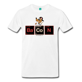 """BaCoN Periodic Table"" - Men's T-Shirt white / S - LabRatGifts - 1"