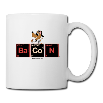"""BaCoN Periodic Table"" - Mug white / One size - LabRatGifts"