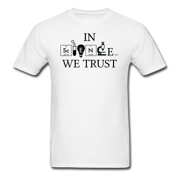 """In Science We Trust"" (black) - Men's T-Shirt white / S - LabRatGifts - 1"