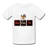 """Bacon Periodic Table"" - Kids T-Shirt white / XS - LabRatGifts - 6"