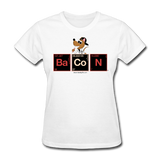 """Bacon Periodic Table"" - Women's T-Shirt white / S - LabRatGifts - 1"