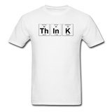 """ThInK"" (black) - Men's T-Shirt white / S - LabRatGifts - 1"