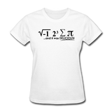 """I Ate Some Pie"" (black) - Women's T-Shirt white / S - LabRatGifts - 1"