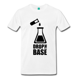 """Drop the Base"" (black) - Men's T-Shirt white / S - LabRatGifts - 8"