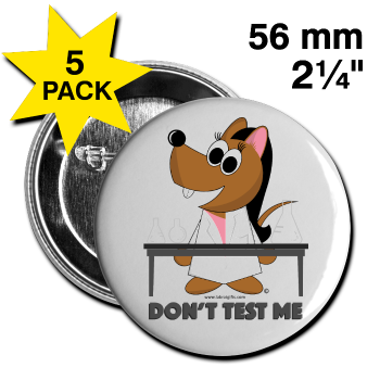 """Don't Test Me"" - Large Buttons (5 pack) white / One size - LabRatGifts"