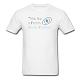 """Think like a Proton"" (black) - Men's T-Shirt white / S - LabRatGifts - 1"