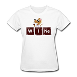 """Wine Periodic Table"" - Women's T-Shirt white / S - LabRatGifts - 11"