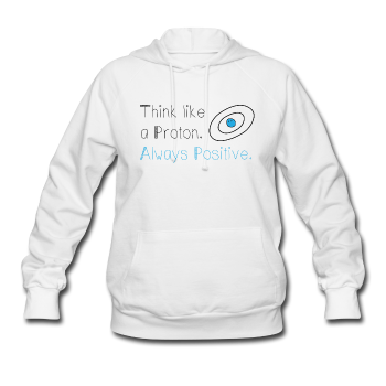 """Think like a Proton"" (black) - Women's Sweatshirt white / S - LabRatGifts - 1"