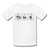 """ThInK"" (black) - Kids' T-Shirt white / XS - LabRatGifts - 5"