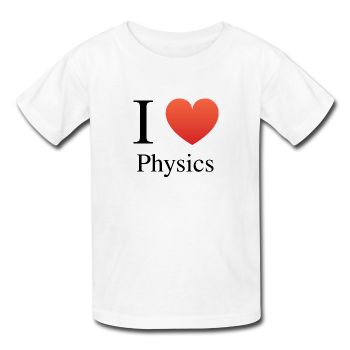 """I ♥ Physics"" (black) - Kids' T-Shirt white / XS - LabRatGifts - 1"