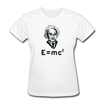 """Albert Einstein: E=mc²"" - Women's T-Shirt white / S - LabRatGifts - 1"