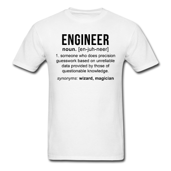 """Engineer"" (black) - Men's T-Shirt white / S - LabRatGifts - 1"