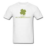 """Lucky Microbiologist"" - Men's T-Shirt white / S - LabRatGifts - 1"