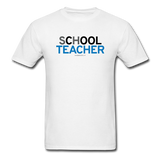 """sChOOL Teacher"" - Men's T-Shirt white / S - LabRatGifts - 1"