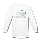 """Forget Lab Safety"" - Kids' Long Sleeve T-Shirt white / XS - LabRatGifts - 2"