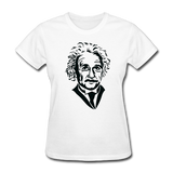 """Albert Einstein"" - Women's T-Shirt white / S - LabRatGifts - 1"