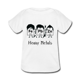 """Heavy Metals"" - Baby Lap Shoulder T-Shirt white / Newborn - LabRatGifts - 4"