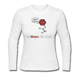 """A-Mean-Oh Acid"" - Women's Long Sleeve T-Shirt white / S - LabRatGifts - 3"
