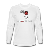 """A-Mean-Oh Acid"" - Men's Long Sleeve T-Shirt white / S - LabRatGifts - 1"