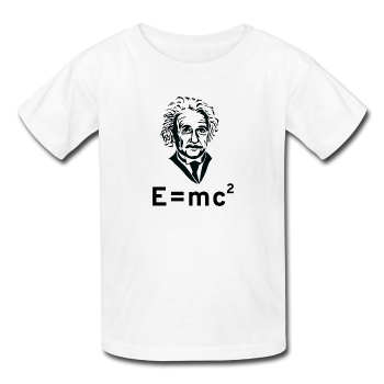 """Albert Einstein: E=mc²"" - Kids' T-Shirt white / XS - LabRatGifts - 1"