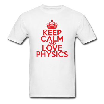 """Keep Calm and Love Physics"" (red) - Men's T-Shirt white / S - LabRatGifts - 1"
