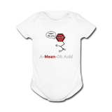 """A-Mean-Oh Acid"" - Baby Short Sleeve One Piece white / Newborn - LabRatGifts - 4"