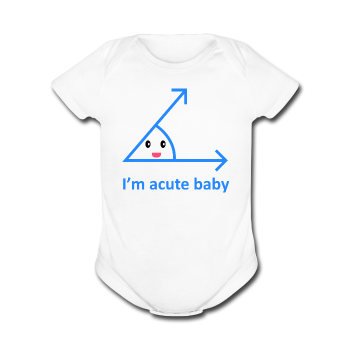 """Acute Baby"" - Baby Short Sleeve One Piece white / Newborn - LabRatGifts - 1"