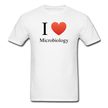 """I ♥ Microbiology"" (black) - Men's T-Shirt white / S - LabRatGifts - 1"