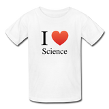 """I ♥ Science"" (black) - Kids' T-Shirt white / XS - LabRatGifts - 1"