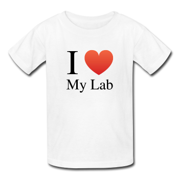 """I ♥ My Lab"" (black) - Kids' T-Shirt white / XS - LabRatGifts - 1"