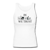 """In Science We Trust"" (black) - Women's Tank Top white / S - LabRatGifts - 5"
