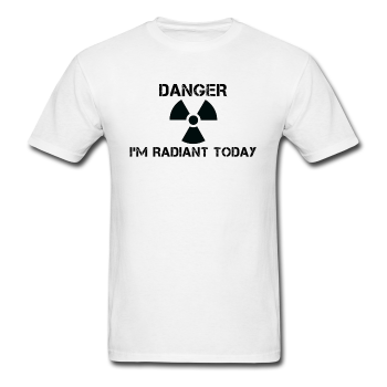 """Danger I'm Radiant Today"" - Men's T-Shirt white / S - LabRatGifts - 1"
