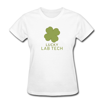 """Lucky Lab Tech"" - Women's T-Shirt white / S - LabRatGifts - 1"
