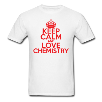"""Keep Calm and Love Chemistry"" (red) - Men's T-Shirt white / S - LabRatGifts - 1"