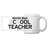 """World's Best sChOOL Teacher"" - Panoramic Mug white / One size - LabRatGifts - 2"