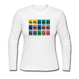 """Lady Gaga Periodic Table"" - Women's Long Sleeve T-Shirt white / S - LabRatGifts - 3"