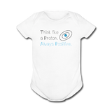 """Think like a Proton"" (black) - Baby Short Sleeve One Piece white / Newborn - LabRatGifts - 4"