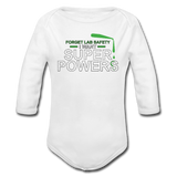 """Forget Lab Safety"" - Baby Long Sleeve One Piece white / 6 months - LabRatGifts - 2"