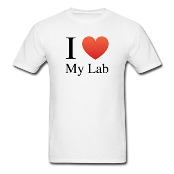 """I ♥ My Lab"" (black) - Men's T-Shirt white / S - LabRatGifts - 1"