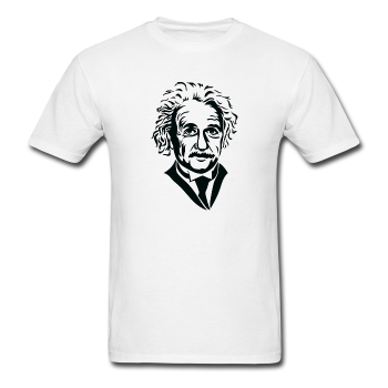 """Albert Einstein"" - Men's T-Shirt white / S - LabRatGifts - 1"