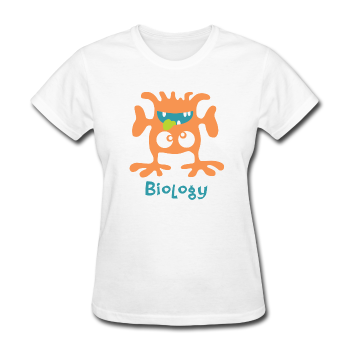 """Biology Monster"" - Women's T-Shirt white / S - LabRatGifts - 1"