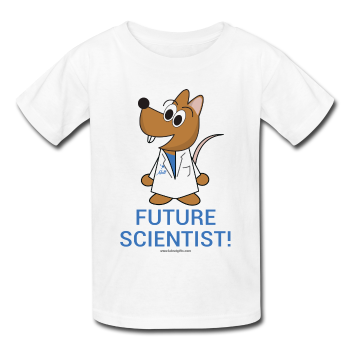 """Future Scientist"" (Matt) - Kids' T-Shirt white / XS - LabRatGifts - 2"