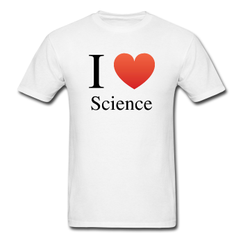 """I ♥ Science"" (black) - Men's T-Shirt white / S - LabRatGifts - 1"