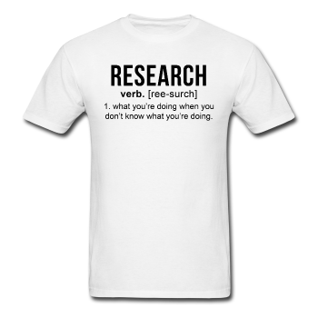 """Research"" (black) - Men's T-Shirt white / S - LabRatGifts - 1"