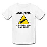 """Warning Compressed Gas Inside"" - Kids' T-Shirt white / XS - LabRatGifts - 5"