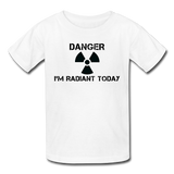 """Danger I'm Radiant Today"" - Kids' T-Shirt white / XS - LabRatGifts - 5"