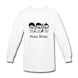 """Heavy Metals"" - Kids' Long Sleeve T-Shirt white / XS - LabRatGifts - 3"
