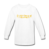 """Bazinga!"" - Kids' Long Sleeve T-Shirt white / XS - LabRatGifts - 3"