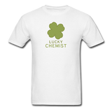 """Lucky Chemist"" - Men's T-Shirt white / S - LabRatGifts - 1"