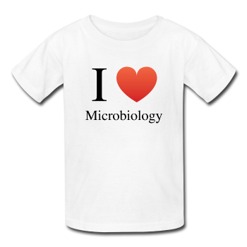 """I ♥ Microbiology"" (black) - Kids' T-Shirt white / XS - LabRatGifts - 1"